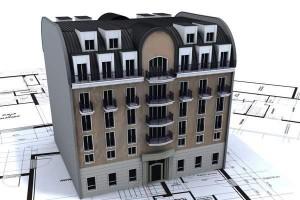 immeuble et plan haut